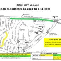 Road Closures 9-10-20 to 9-11-20